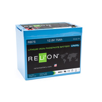RELion RB75 12V 75Ah Lithium Deep Cycle Batterie mit BMS
