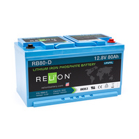 RELion RB80-DIN 12V 80Ah Lithium Deep Cycle Batterie mit BMS